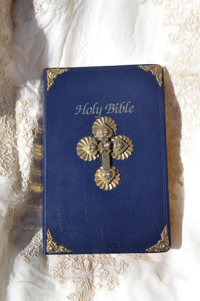 Jeweled First Communion Bible - NAB Navy