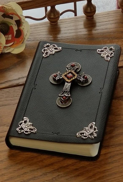 NIV Jeweled Compact Bible-Dark Brown