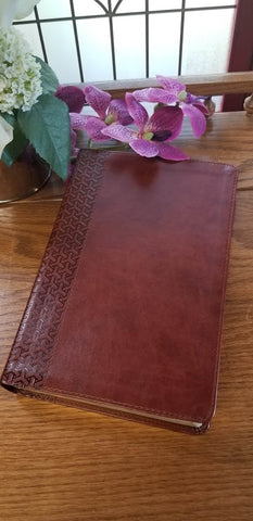 CSB Everyday Study Bible, British Tan (Bible on left in photo)