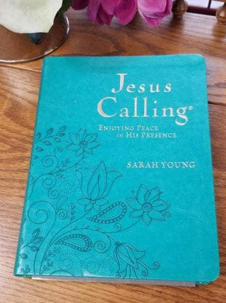 Jesus Calling Devotional Large Print Edition - Turquoise