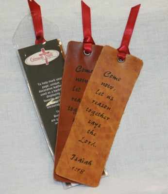 Leather Scripture Bookmarks Isaiah 1:18