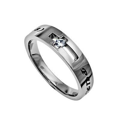 Purity Solitaire Ring with CZ
