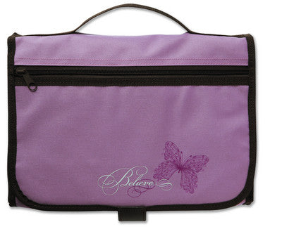 Designer Tri-Fold Cover Lavender/Chocolate Large