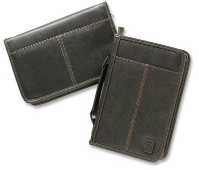 Aviator Leather-Look Brown Bible Cover