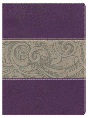 Woman's Study Bible, Purple Floral NKJV