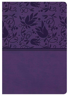 KJV Large Print Personal Size Reference Bible Purple LeatherTouch Indexed
