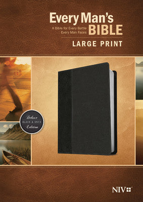 Every Man's Personalized Bible NIV, Large Print, TuTone Black/Onyx Indexed