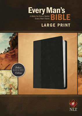 Every Man's Personalized Bible NLT, Large Print, TuTone Black Indexed
