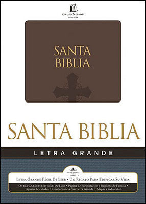 Spanish Biblia Letra Grande-Brown