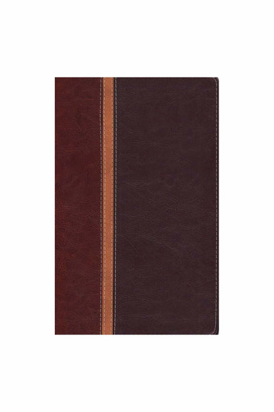 The Message/Parallel Study Bible NIV, Personal-Size - Dark Caramel/Black Cherry