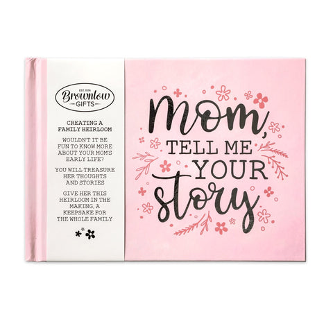 Mom, Tell Me Your Story Heirloom Memory Book - Pink