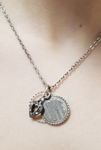 Love Coin Pendant Necklace Choice of Bronze or Silver
