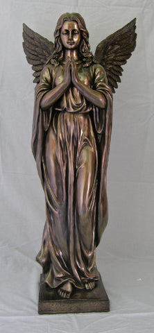 Praying Angel, Cold-Cast Bronze, 38""