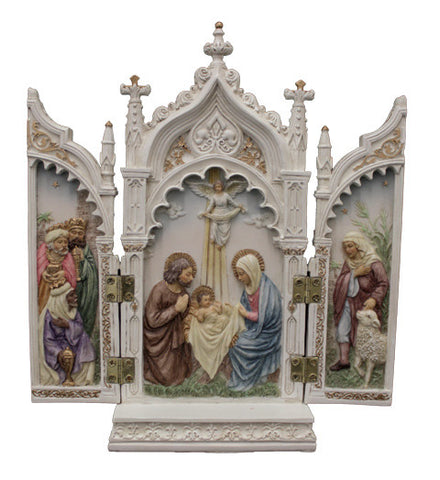 Nativity Triptych White
