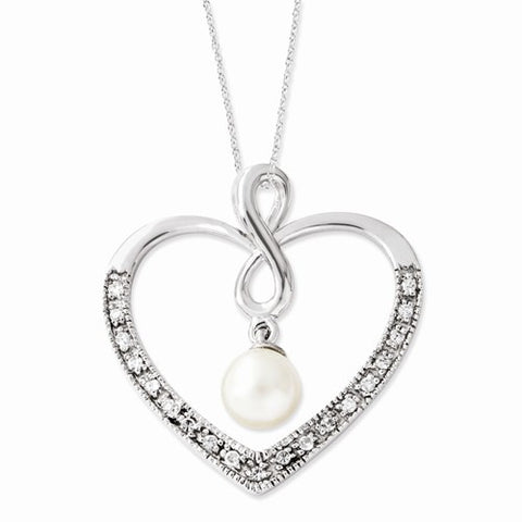 Pearl My Friend 18in Heart Neck