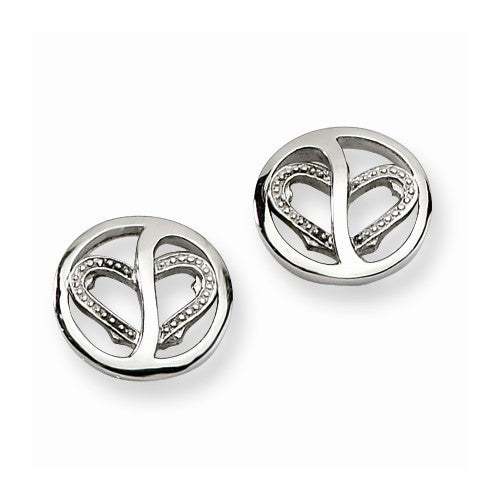 ON SALE Stainless Steel CZ Earrings 50% OFF