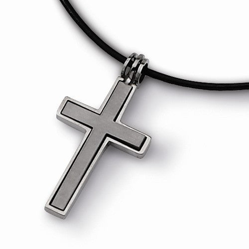Titanium 2-Piece Cross Pendant