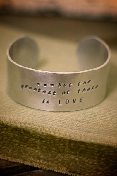 Bible Verse Thick Cuff Bracelet-Choose from 5 Scriptures