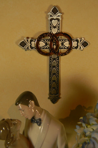 Pewter Marriage Wall Cross