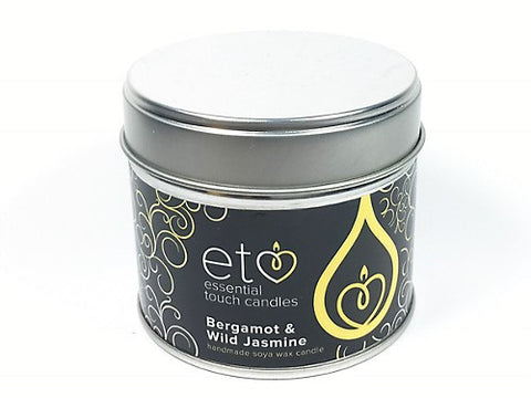 Bergamot and Wild Jasmine Candle Tin