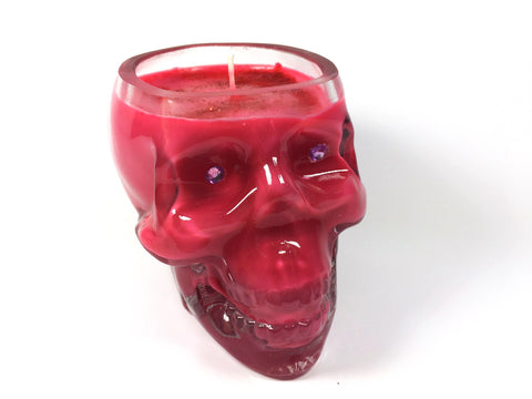 Cherry Skull Candle