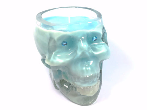 Pear Drop Skull Candle