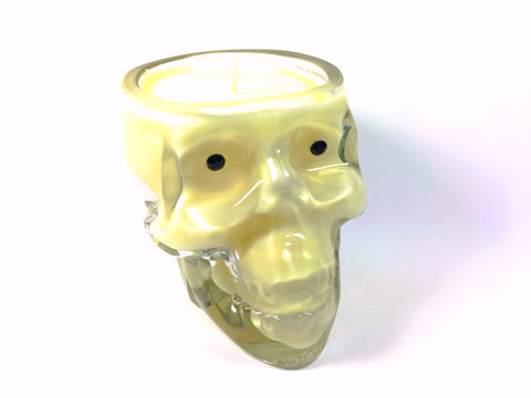 Coconut Skull Candle