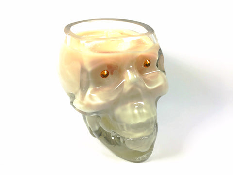 Coffee Date Skull Candle
