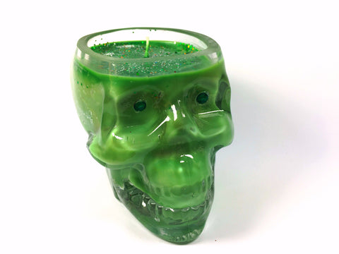Frankincense Tree Skull Candle