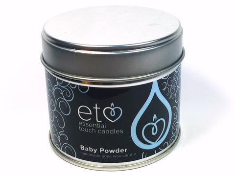 Baby Powder Blue Candle Tin