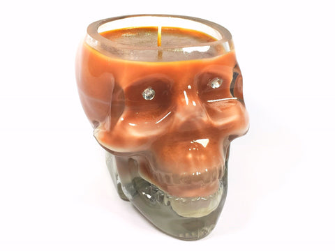Sticky Toffee Pudding Skull Candle