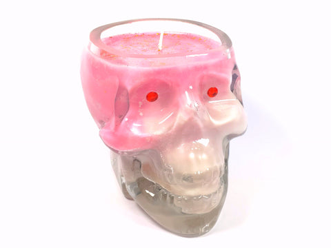 Apple Spice Skull Candle