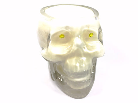 Vanilla Lace Skull Candle