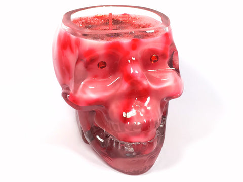 Strawberry Skull Candle