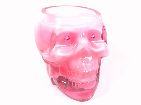 Baby Powder Pink Skull Candle