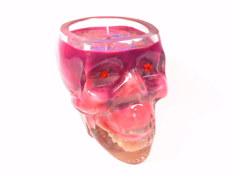 Saturday Night Skull Candle