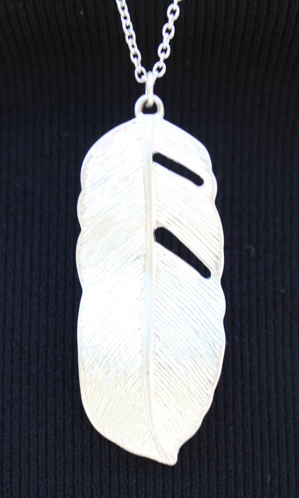 Necklace - Silver Leaf Fashion Necklace