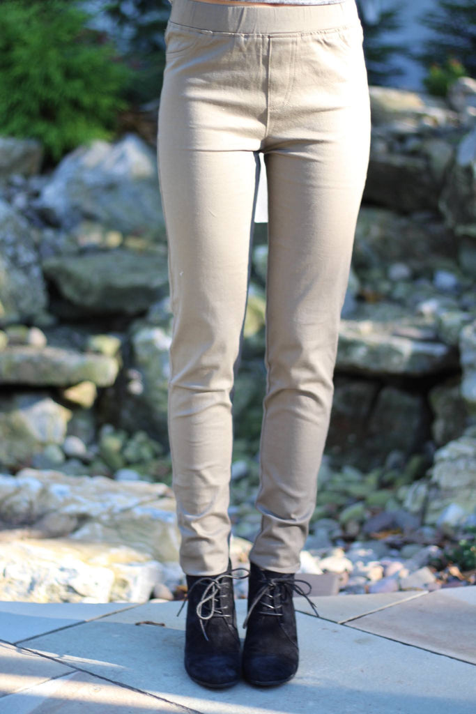 Pants - Olive Jeggings