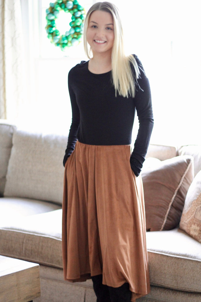 Skirts - Faux Suede Skirt