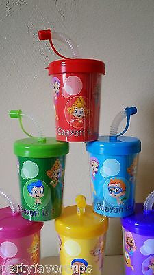 Bubble Guppies Personalized DIY Birthday Party Favor Treat Cups Set of 6