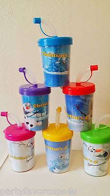 Frozen Snow Olaf Personalized Party Favor Cups, Birthday Treat Cups~Set of 6