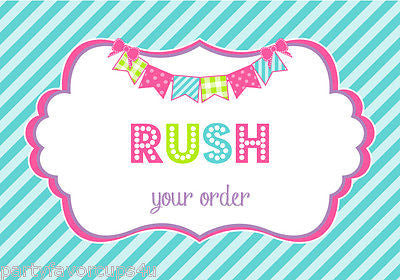 Rush Order Processing Fee For Party Favor Cups/10oz Sippy Cups & 8oz Tumblers