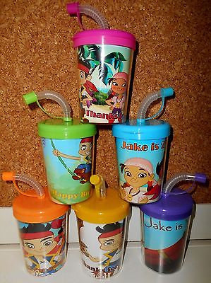 Jake and the Never Land Pirates Party Favor Cups Personalized Birthday Treat Cup