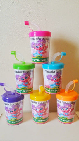 Abby Cadabby Sesame Street Party Favor Cups Personalized Birthday Cups 6ct