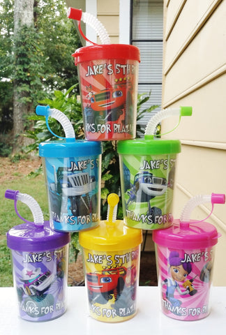 Blaze and the Monster Machines Personalized DIY Birthday Party Favor Treat Cups Set of 6