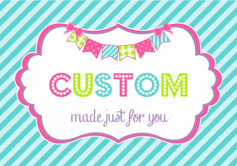 CUSTOM ORDER PROCESSING for New Designs Happy Birthday Banners & Name Banners