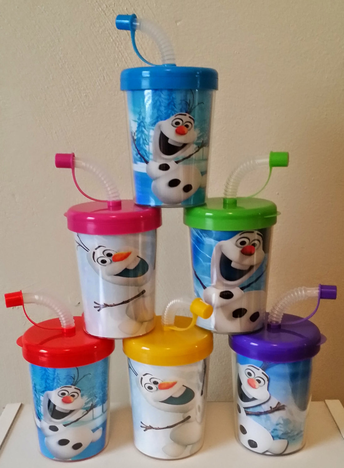 Olaf Personalized Party Favor Cups DIY Olaf Birthday Frozen Snow