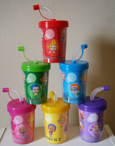 Bubble Guppies Party Favor Cups Personalized With Name Age, Set of 6 Bubble Guppies Birthday Treat Cups Bubble Guppies Party Favors
