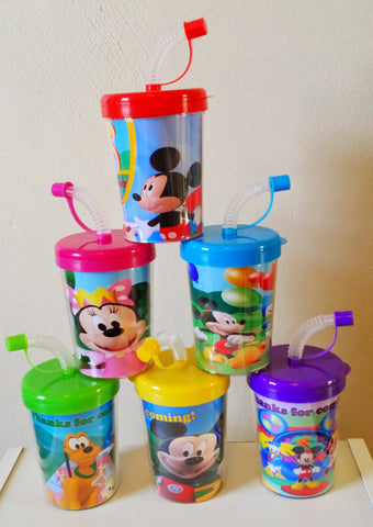 Mickey Mouse Clubhouse Personalized Party Favor Cups, Minnie Mouse Birthday Treat Cups Set of 6, BPA Free