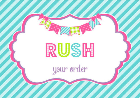 RUSH ORDER PROCESSING for 8oz Child Tumblers & 10oz Sippy Cups